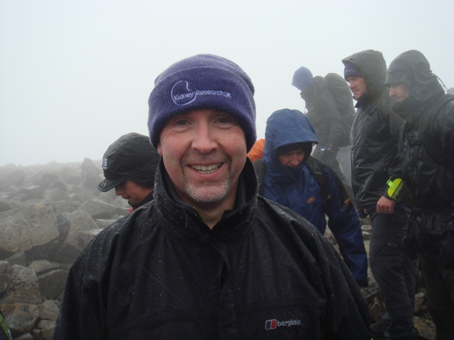 Tom Sheehy looks delighted to have made it to the top