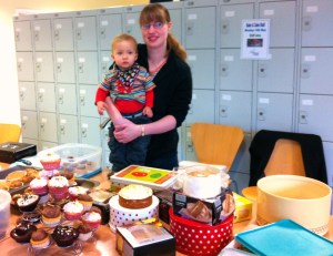 Michelle with Kieron at Bertrams' Bake and Take last year