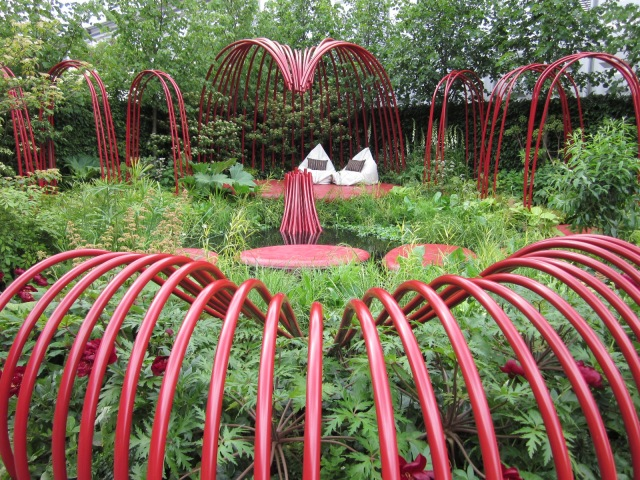 The British Heart Foundation's show garden at Chelsea Flower Show in 2011. Designed to raise awareness of their Mending Hearts campaign