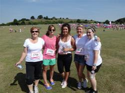 Salisbury Race for Life on arrival