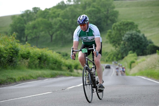 Chris in action on the South Downs in June