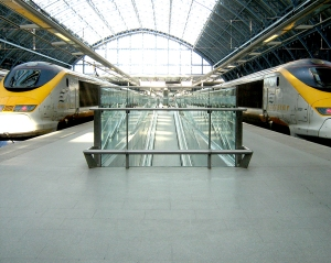 The Eurostar terminal at St Pancras Station