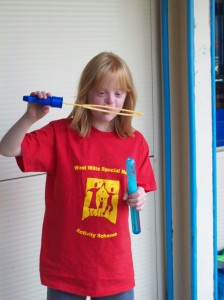 girl in red tshirt summer 2013