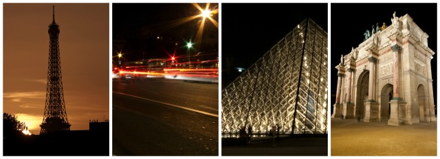 Some views of Paris by night - a great start to the bike ride