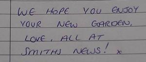 Message in the guest book