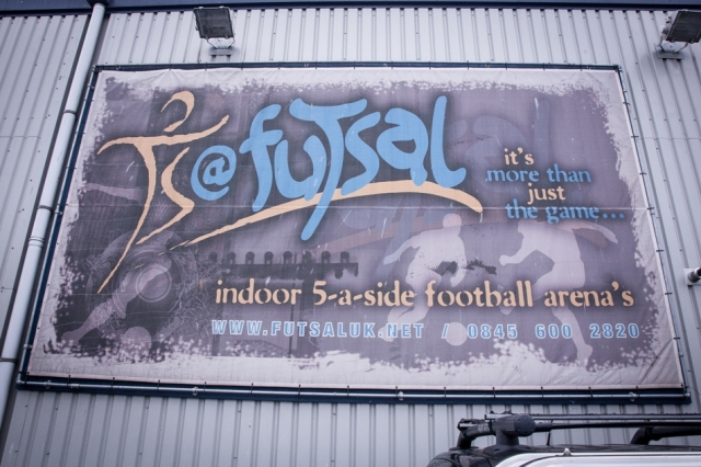 Futsal stadium sign