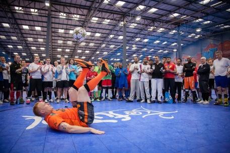 Keepie uppie at 2013 Futsal tournament