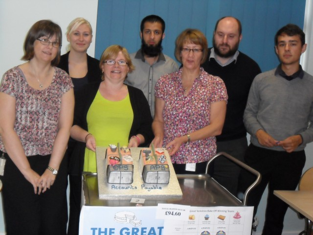 The Great Yorkshire Bake-off Bakers with Attitude team themed cake