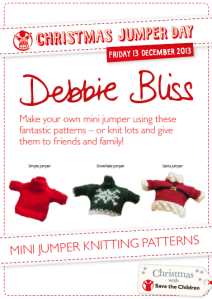 Mini jumpers by Debbie Bliss