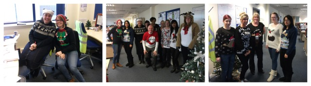 A selection of festive jumpers at Wednesbury