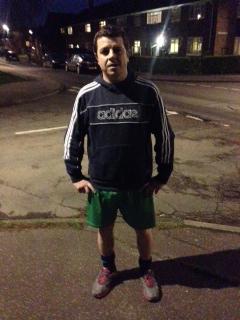 January: Mark Tuttle at the start of his 1,000 kilometres challenge.