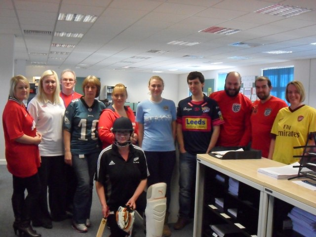 The AP team dressed in their finest sports gear