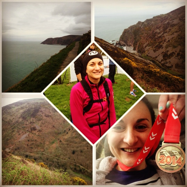 collage of Exmoor scenery and runner