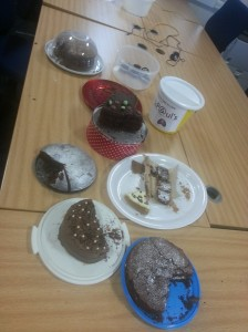 A selection of severely depleted cakes