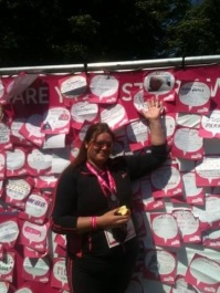 Laura Elliot supports the Race for Life