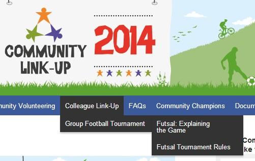 Futsal menu information