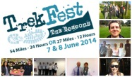 Trekfest team collage - 26 trekkers, 7 teams and 9 charities