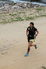 Megan Davies running in Bhutan