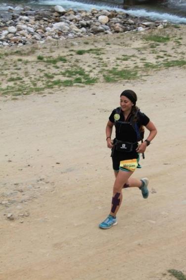 Megan Davies running in Bhutan