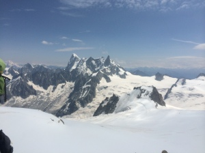 View from Aretes des Cosmiques