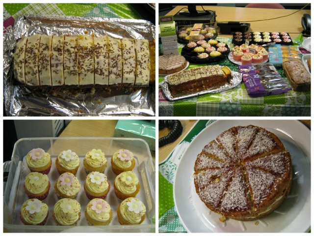 Lots of yummy cakes for the Macmillan Coffee Morning