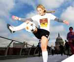 Picture of freestyle footballer Charlotte Lade