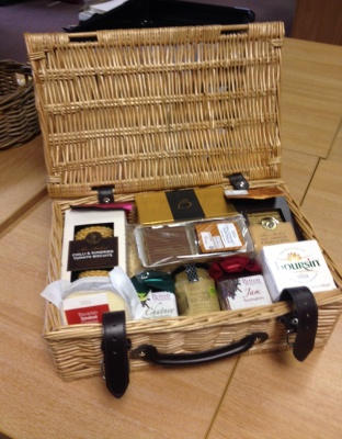 Photo of hamper used to raise funds