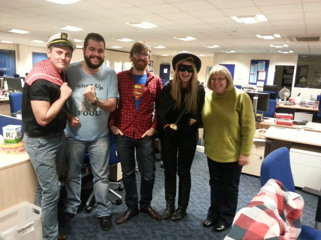 Superhero costumes for Children in Need 2014
