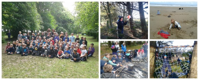 Volunteer Time activities with 5th Jarrow cub scouts