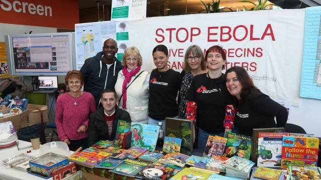 The Stop Ebola Stall at the Winter Market in Norwich