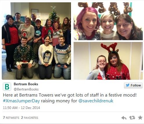 Christmas JUmper Day at Bertrams and Dawson