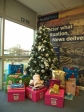 December: 2014's Secret Santa for Hop Skip and Jump netted 64 gifts, plus boxes of books...