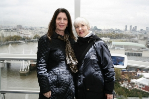 Maria (left) on the London Eye