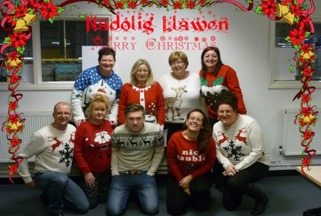 Christmas Jumper Day for Save the Children at Newport with Christmas Greetings