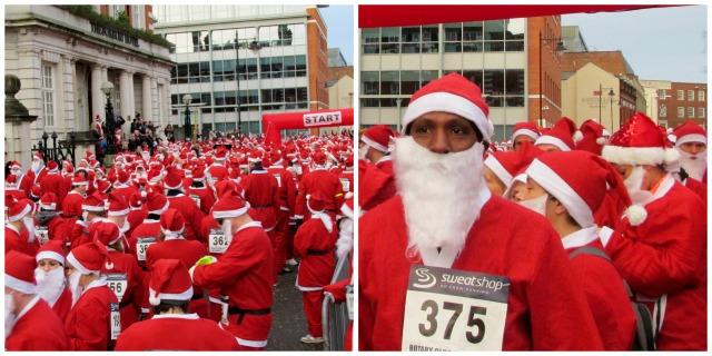 The recent Santa run in Reading