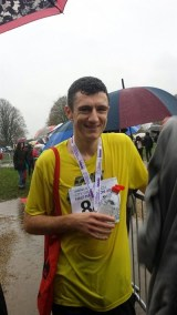 November: Will Layton ran the Norwich half marathon