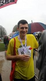 November: Will Layton ran the Norwich half marathon