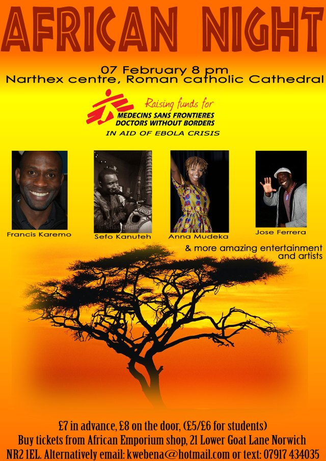 EBOLA African Night event poster