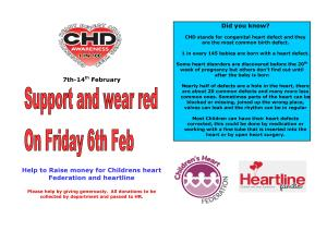Fund raising poster for Waer Red on the 6th February