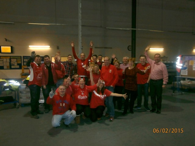 The warehouse wear red