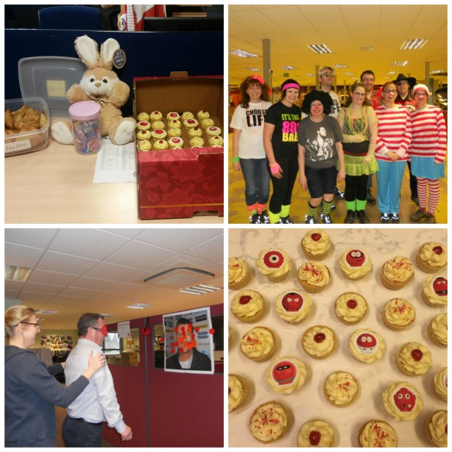 Red Nose Day 2015: from Reading (top left and bottom right) and Connect Education & ??? with love