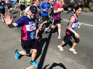 Michael Williams in the Brighton Marathon