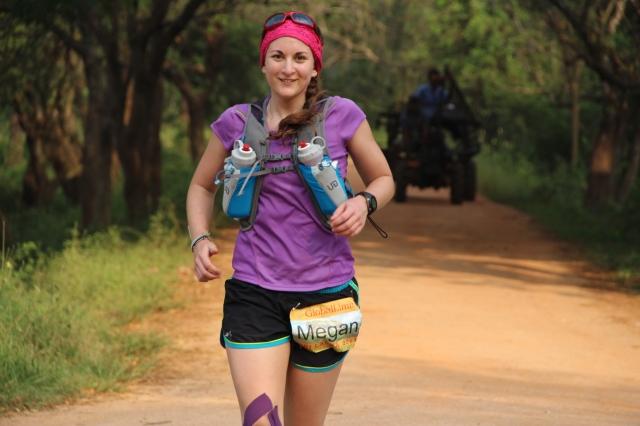 Megan Running  in Sri Lanka