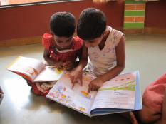 Megan Davies ensured Sunjavi Girls Home had plenty of books