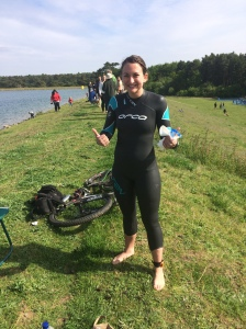 Tearjerker Triathlon - before the swim