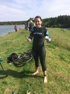 Tearjerker Triathlon - before the swim