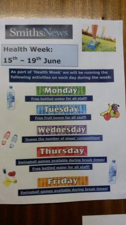 Nottingham Health Week Poster