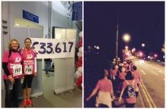 Deb Zaza and Sarah Loftus walked through the night for the Severn Hospice