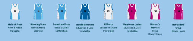 Pitch or Court Netball Teams