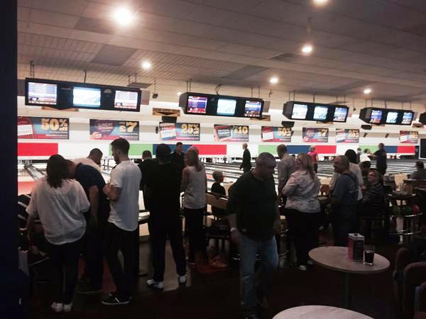 Amigos bowling night in action